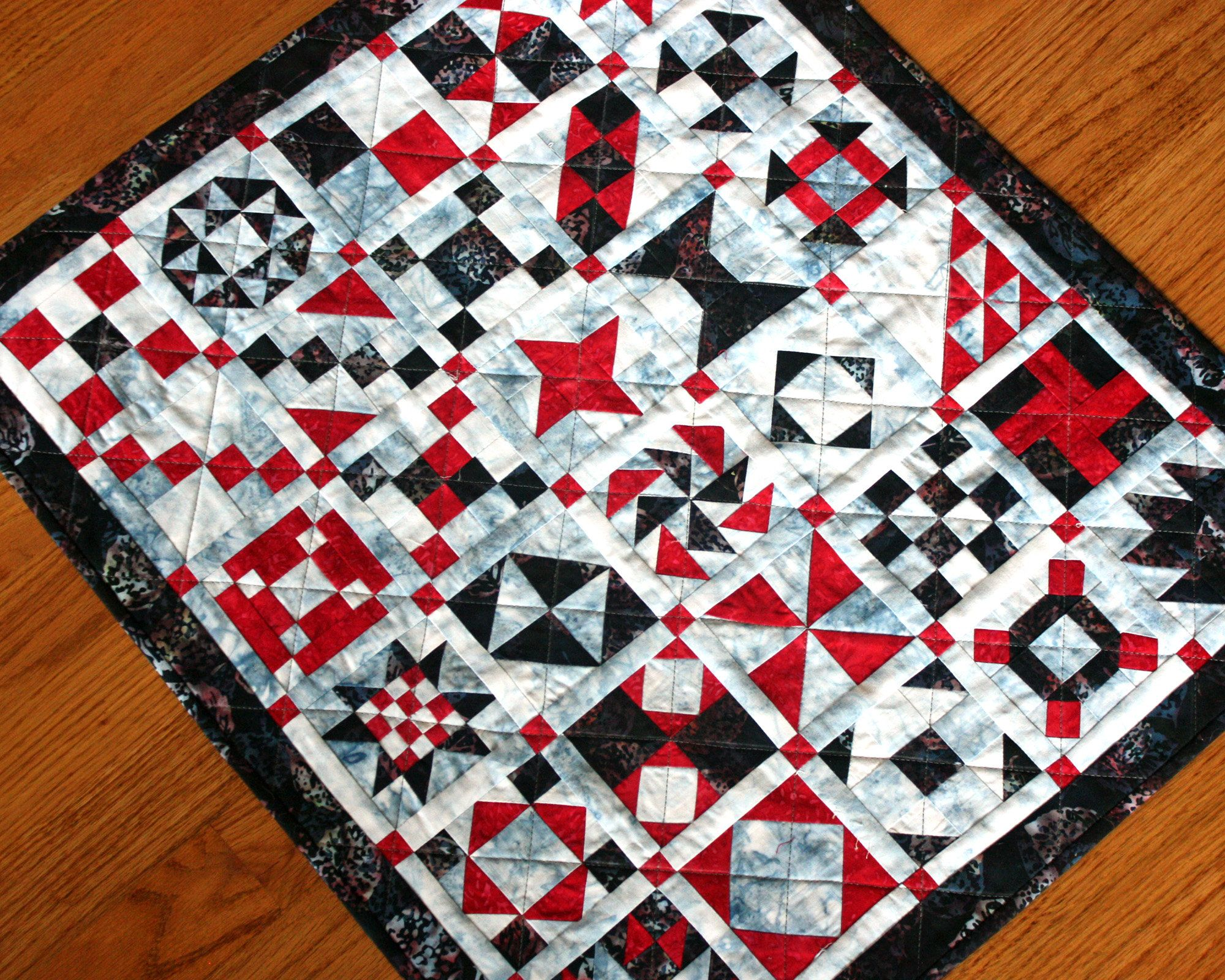 Quilted Block Sampler mini quilt wall hanging 24 x 21 inches   Etsy