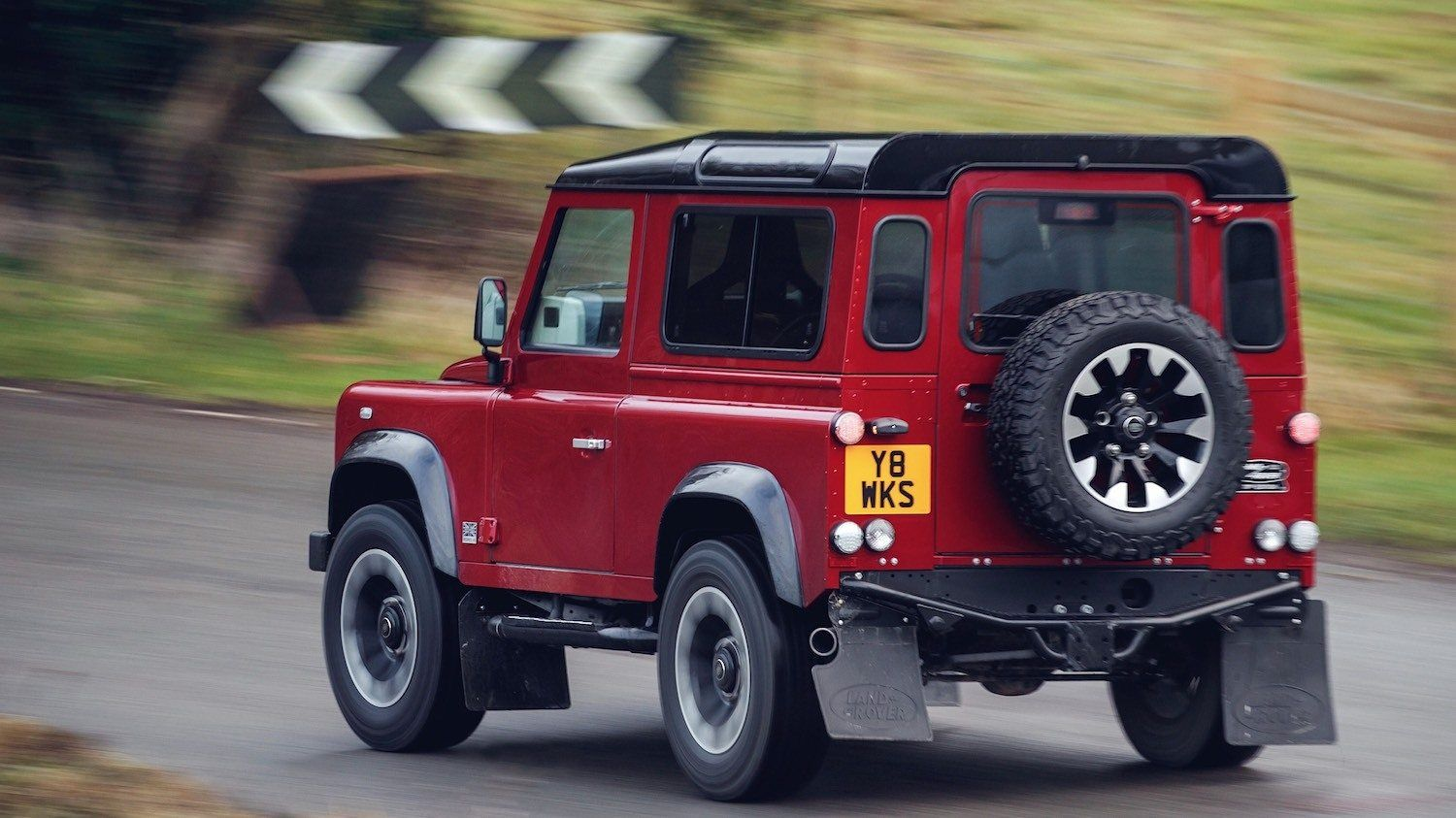 to the Defender 70th Edition and it's a V8 Land