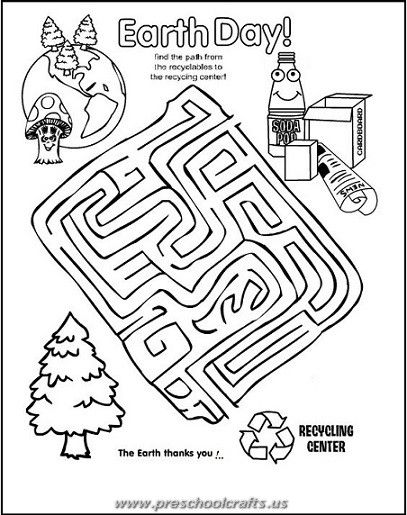 Free Printable Earth Day Worksheets For Kids Preschool And Kindergarten In 2020 Earth Day Coloring Pages Maze Worksheet Earth Day Worksheets