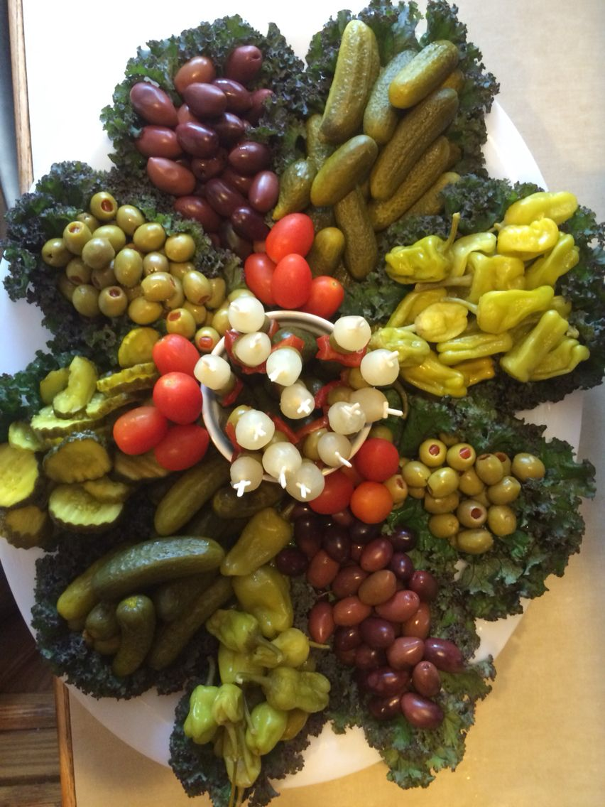 Proud of my pickle tray! … Veggie platters, Vegetable