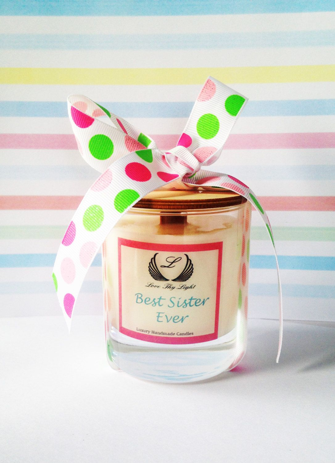 Best Sister Gift Candle With A Wood Wick Birthday Gift For Best