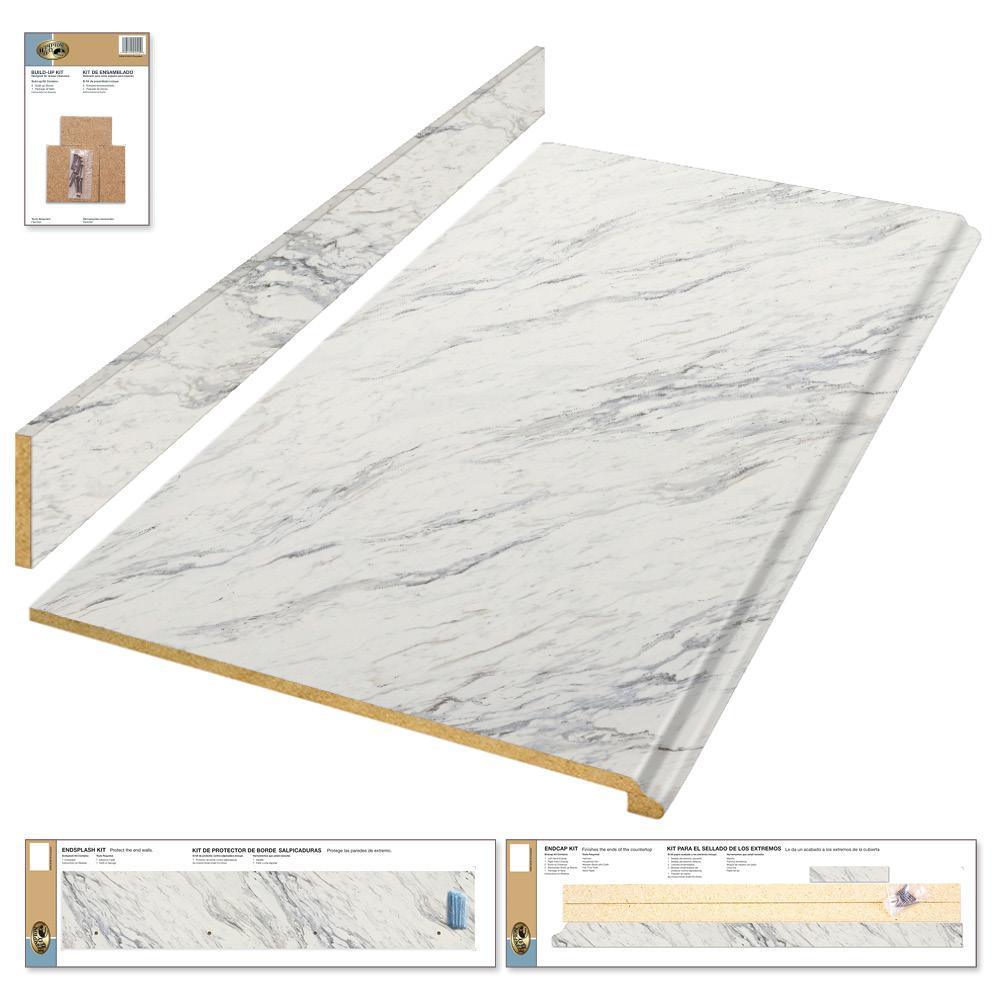 Hampton Bay 4 Ft Laminate Countertop Kit In Calcutta Marble With