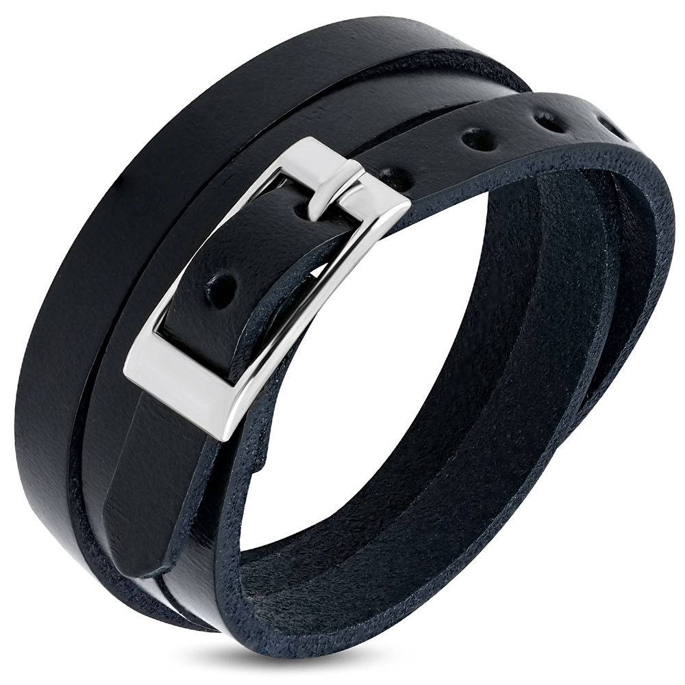 bracelet cuir a boucle homme