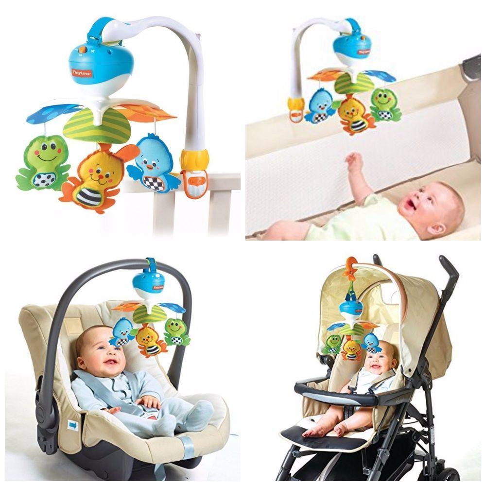 Baby Nursery Musical Crib Bed Music Box Travel Infant Car Seats Stroller Tinylove