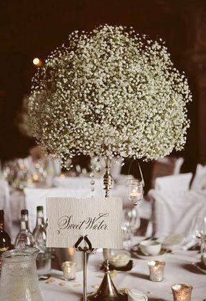 Baby S Breath Wedding Details Babys Breath Centerpiece Wedding Wedding Table Centerpieces Wedding Table