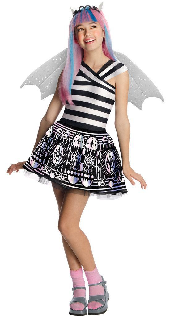 Monster High Rochelle Goyle Child Costume Includes dress with black and white striped bodice and  sc 1 st  Pinterest & Monster High Rochelle Goyle Child Costume Includes: dress with black ...