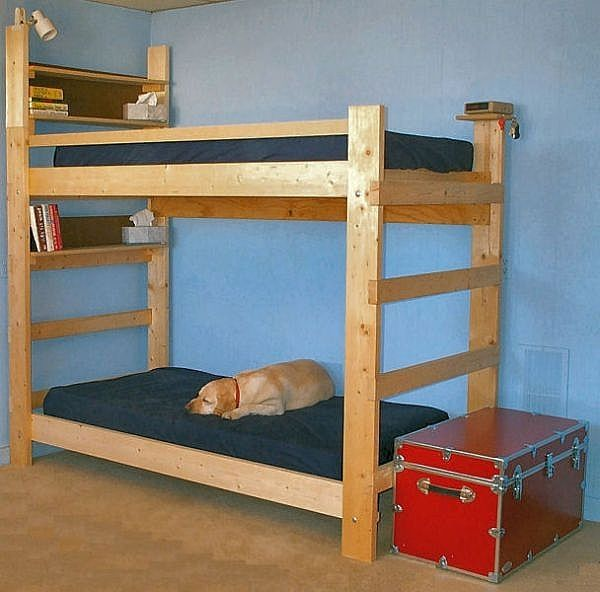 Bedroom Design How To Make Double Bunk Bed How To Build A Bunk Bed For Your Beautiful Home Homemade Bunk Beds Wooden Bunk Beds Bunk Bed Plans