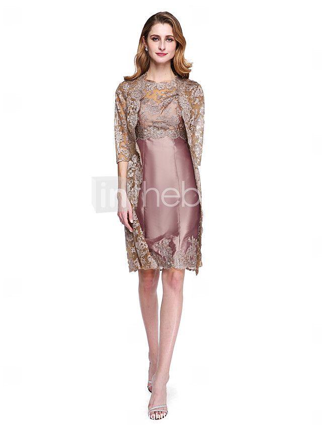 c45ca317a Lanting Bride® Tubinho Vestido Para Mãe dos Noivos - Duas Peças Bolero  Incluso Até os