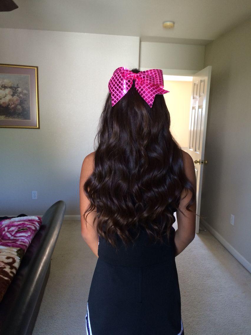 Curly hair cheer hair pinterest cheer hair and long curls