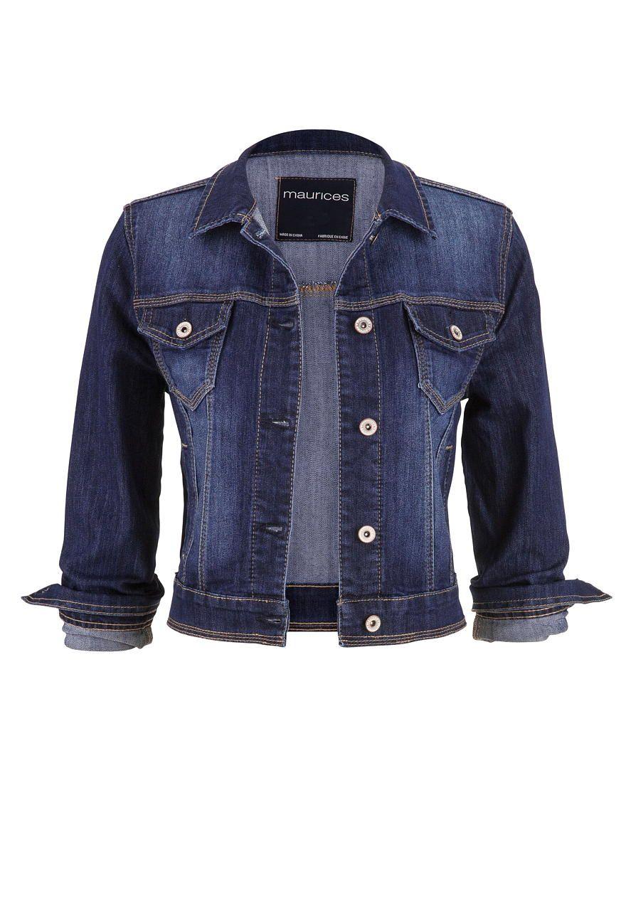 574dae44c1c denim jacket in dark wash with four pockets