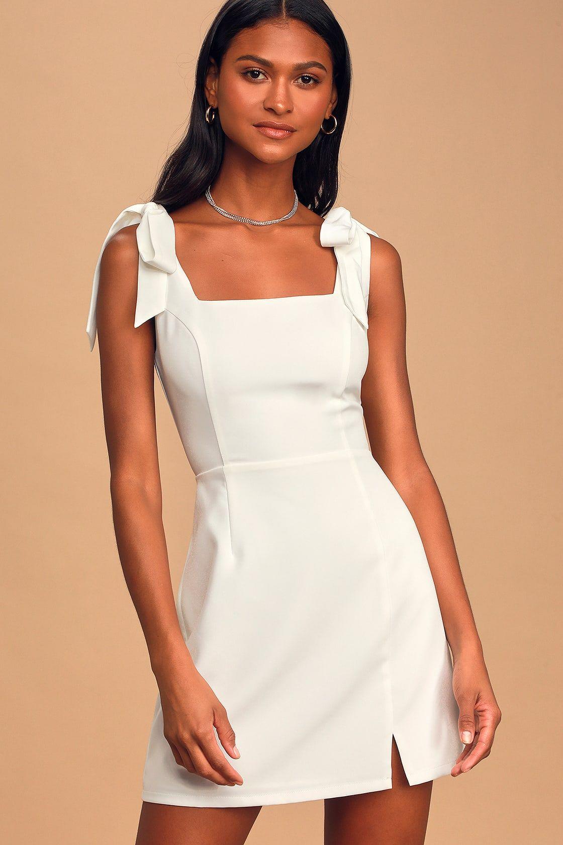 Your Sweetie White Tie Strap Mini Dress Short Graduation Dresses Graduation Dress High School White Dresses Graduation [ 1680 x 1120 Pixel ]