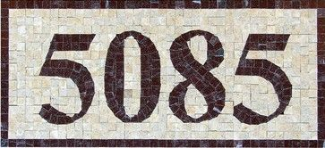 Handcrafted Marble Mosaic House Numbers Mosaic House Mosaic House Numbers