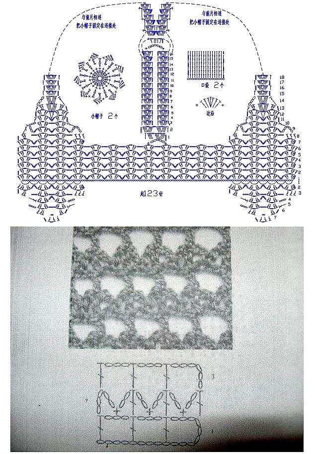 Patron Crochet Chaleco Dibujo Espalda - Patrones Crochet | Crochet ...