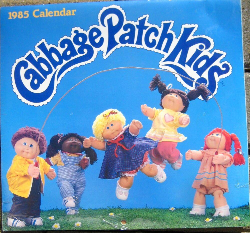 Vintage Sealed 1985 Cabbage Patch Kids Calendar Cabbage Patch Kids Cabbage Patch Babies Kids Calendar