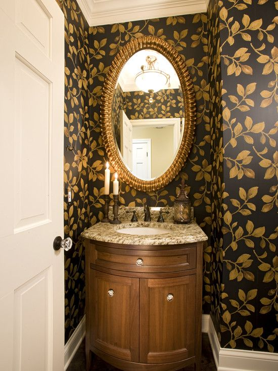Tiny Double Pocket Doors For Powder Room Design, Pictures, Remodel ...