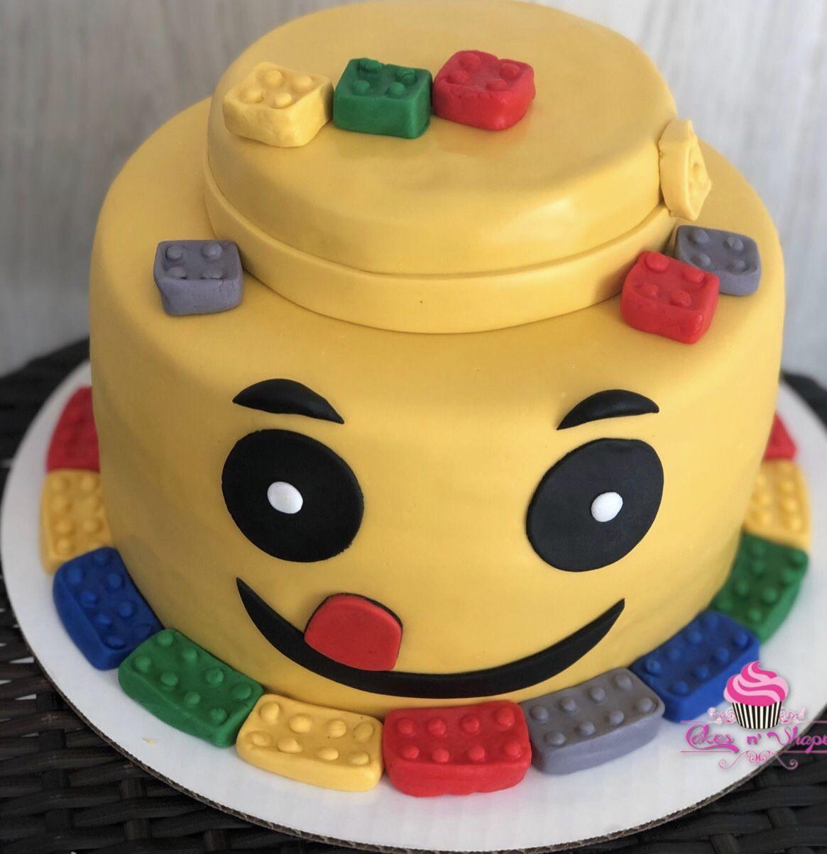 Lego Cake Cake, Fondant cakes, Lego cake