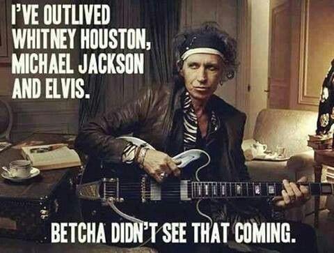 Keith Richards, Rolling Stones guitarist Whitney houston