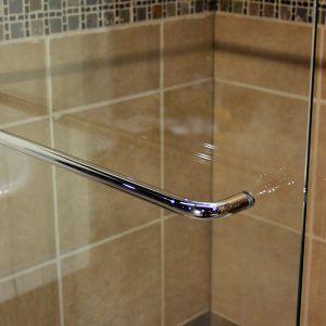 Frameless Sliding Shower Door Towel Bar Shower Sliding Glass Door Glass Shower Doors Bathroom Shower Doors