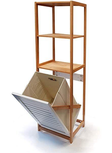 Butlers Big Bamboo Bad Regal Mit Waschekorb Aus Bambus 40x95 Cm Badezimmer Schrank Aus Holz Amazon De Kuche Haus In 2020 Regal Haus Deko Badezimmer Regal Weiss