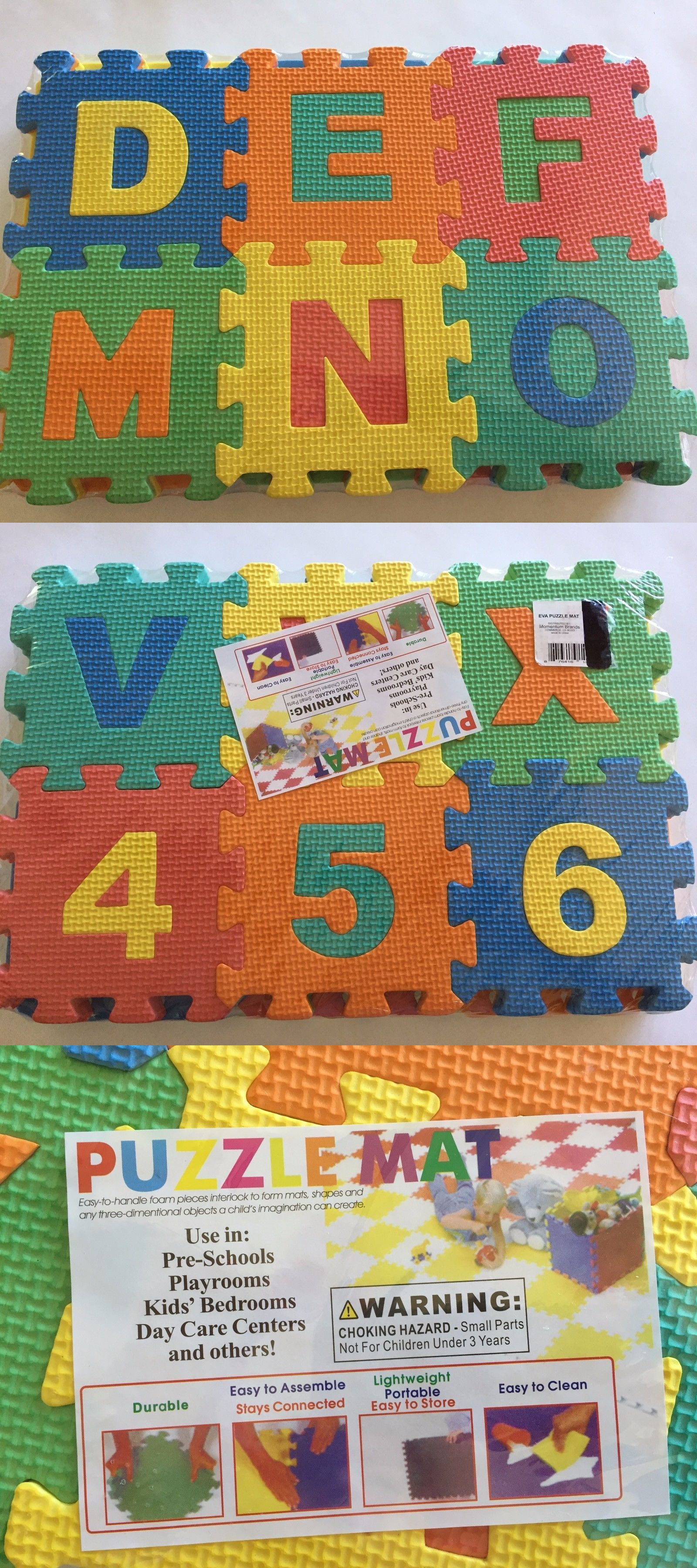 Blocks Tiles And Mats 145931 Preschool Alphabet Number Floor Exercise Mat 36 Pcs Foam Puzzle Educational To Alphabet Preschool Kids Playmat Childrens Play Mat