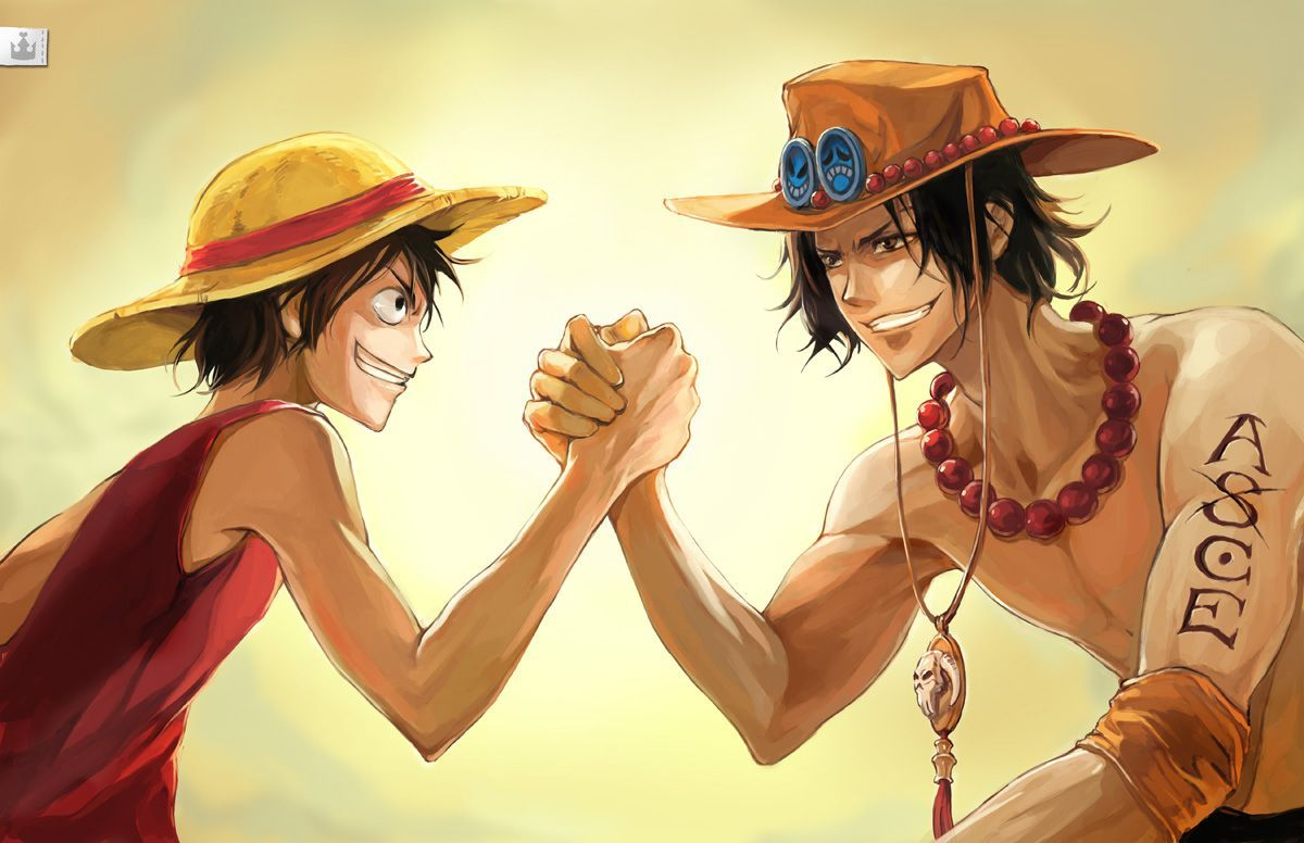 luffy and ace brothers one piece hd wallpaper wallpaperloves
