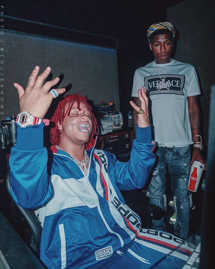 Film Session With Yb Louieknows Nbayoungboy Trippie Redd Rap Album Covers Rappers