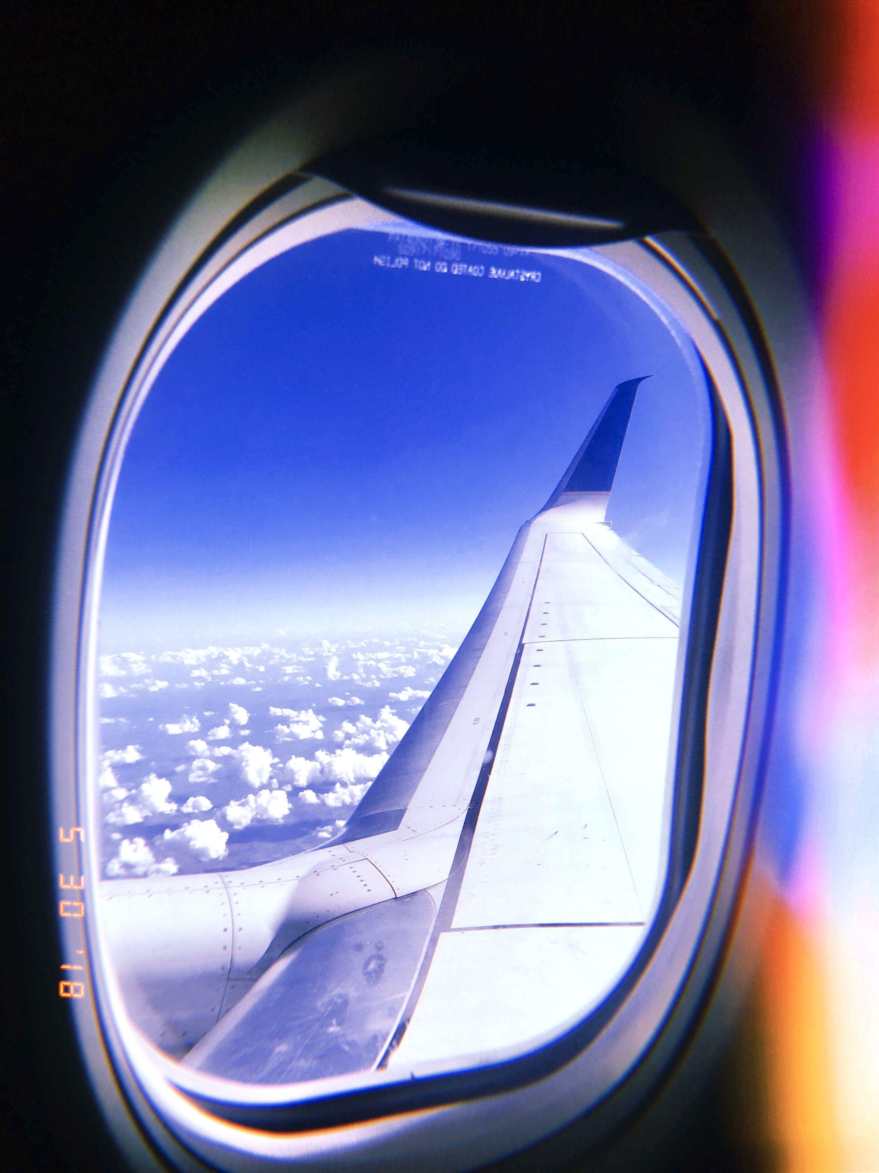 artsy airplane window aesthetic