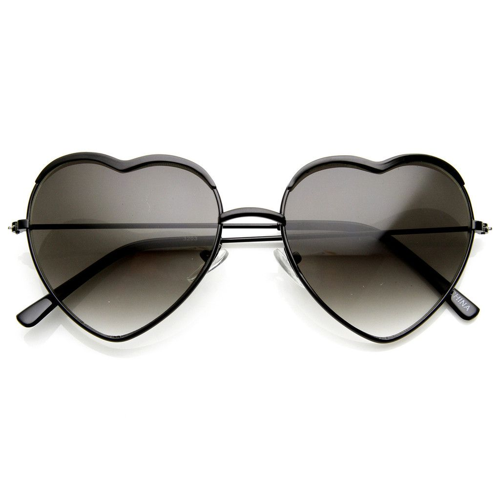 06c2fdbe1f5 Colorful Womens Metal Heart Shape Sunglasses 8826