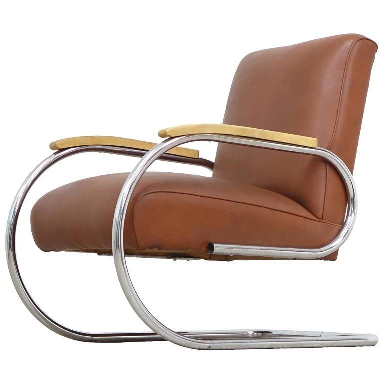 Tubax Easy Chair Bauhaus 1920 Steel Tube Lounge Chair