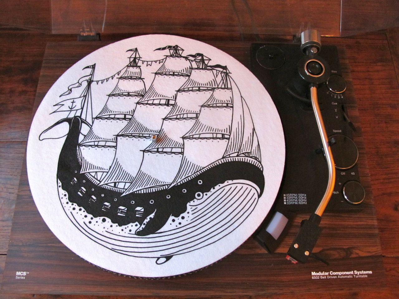 Turntable Slipmat Whaleboat By Kyler Martz Vinyl