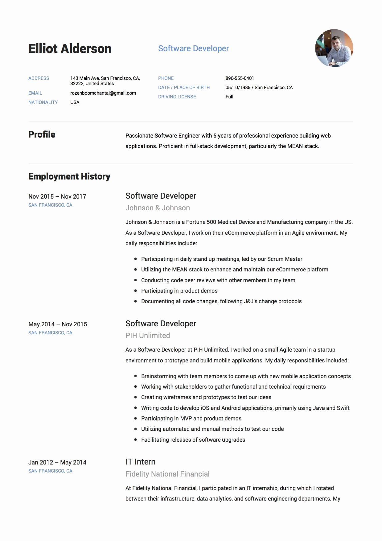Java Full Stack Developer Resume New 12 Software Developer Resume Sample S 2018 Full Stack Developer Cover Letter For Resume First Job Resume
