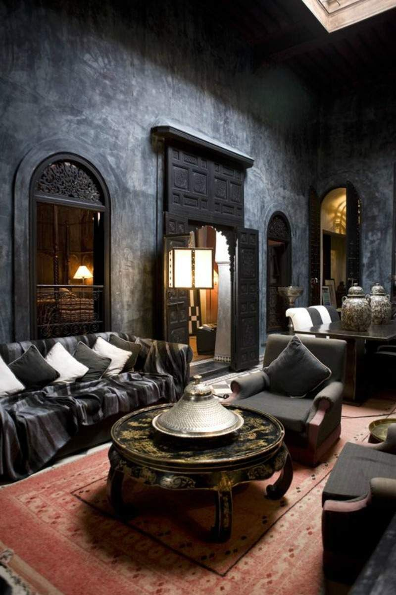 dcoration salon marocain 38 ides originales - Salon Marocain Peinture Gris