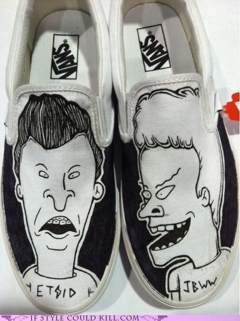 c5f2bd2b752eba Beavis and Butthead Vans!! Awesome!