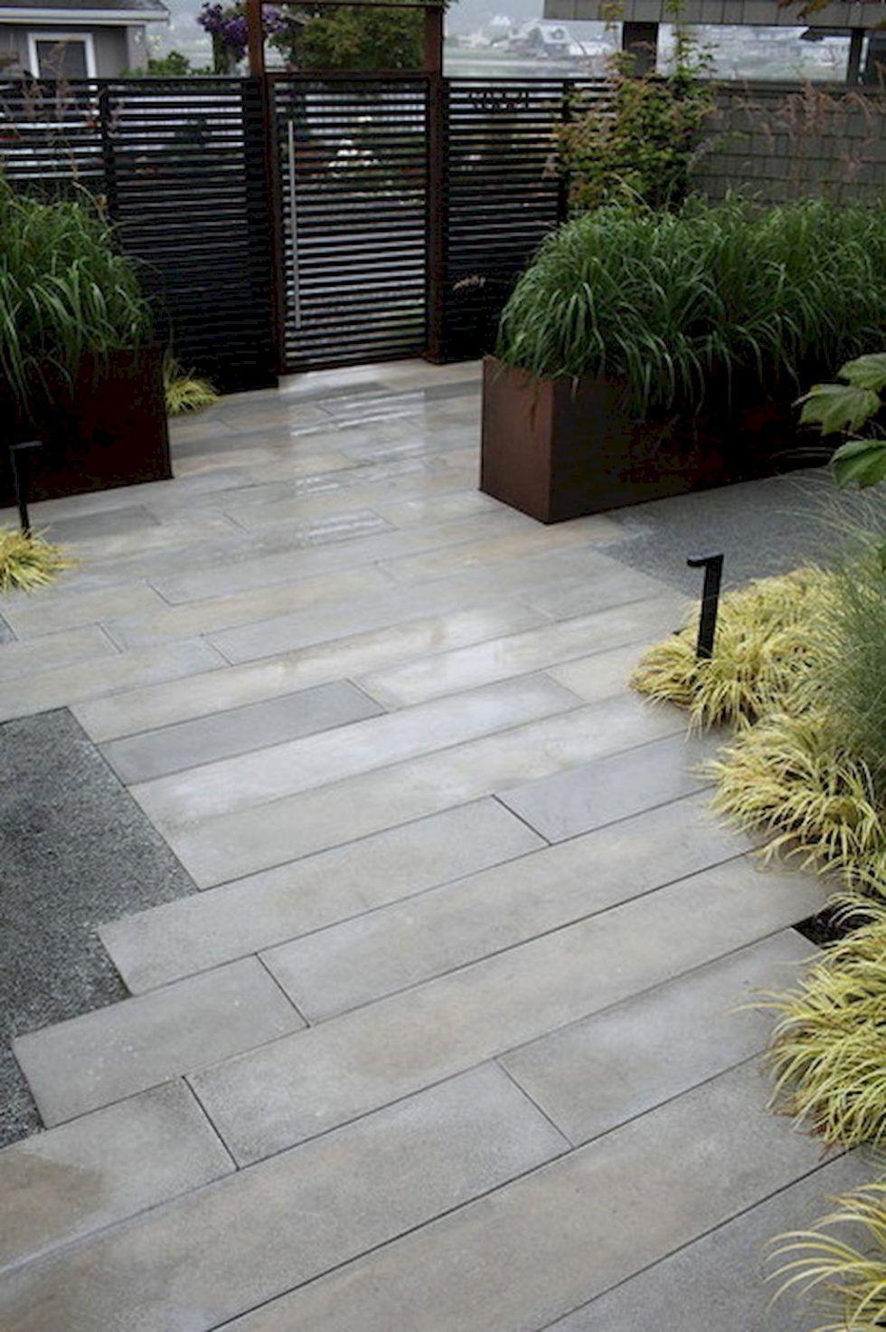 Pin On Gardening Modern backyard with pavers