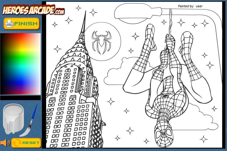 Free Coloring Spiderman Games