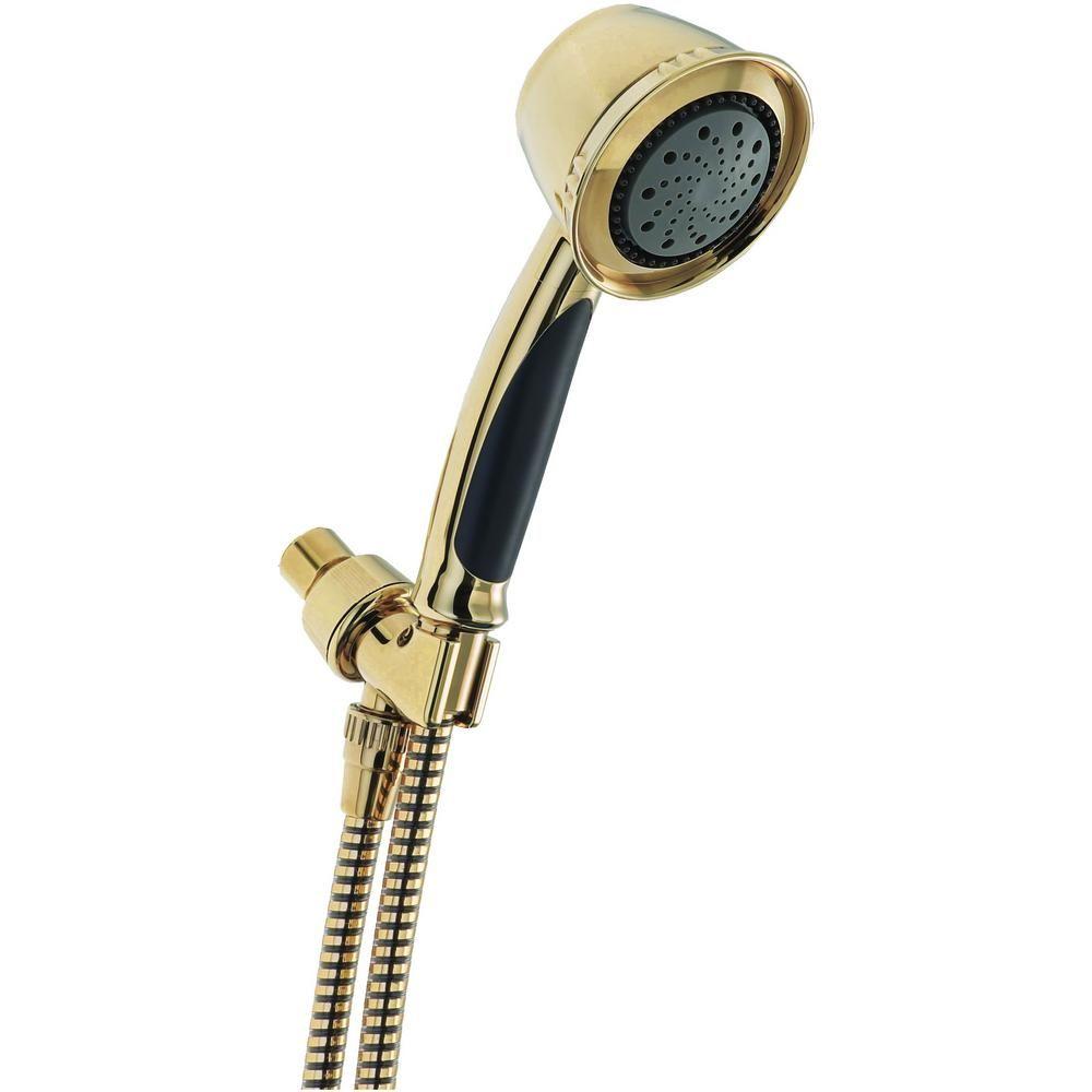 Delta 5 Spray 3 8 In Single Wall Mount Handheld Shower Head In