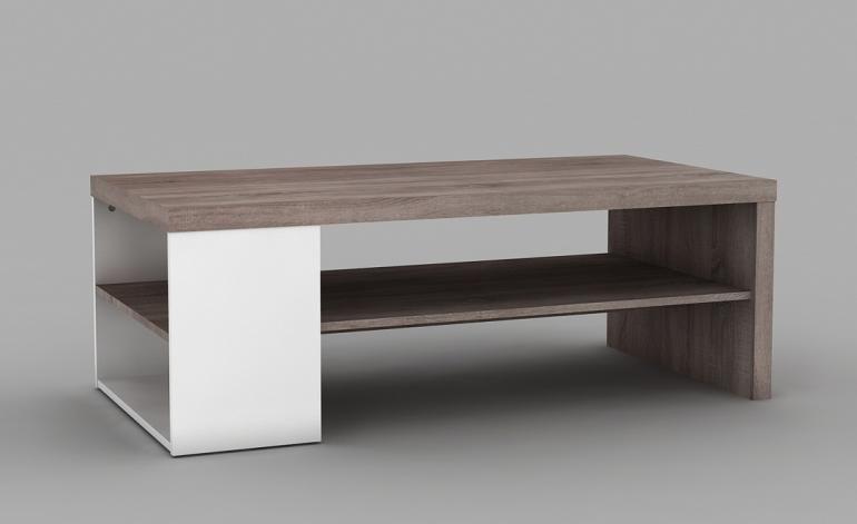 Tavolino Bianco E Rovere Scuro Vabio Conforama Casa Dolce Casa
