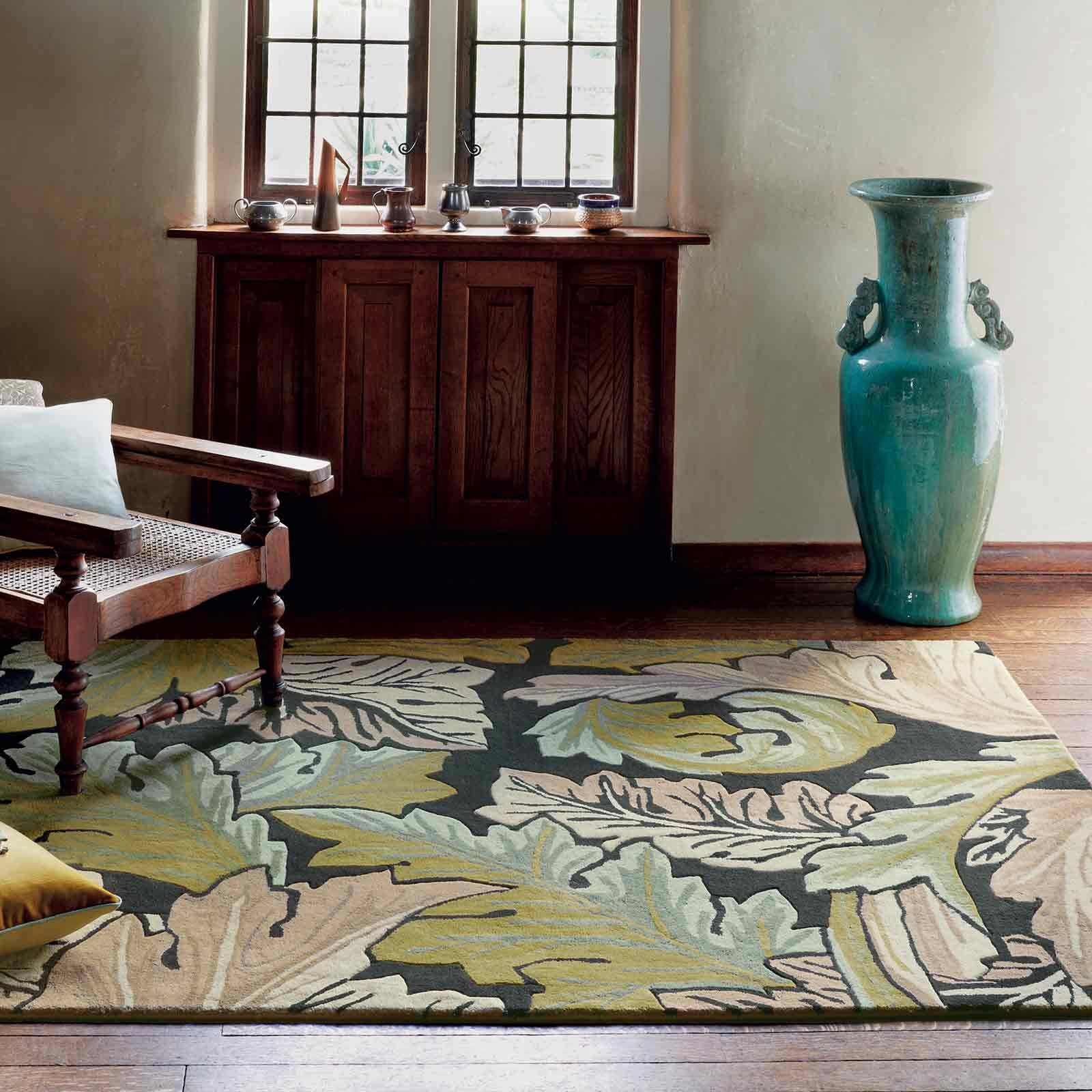Acanthus rugs are inspired by authentic versions of