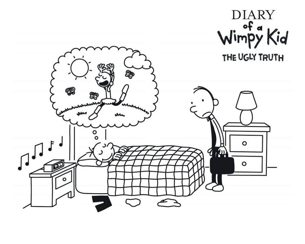 Diary Of A Wimpy Kid Coloring Pages Printable Shelter In 2020 Coloring Pages For Kids Printables Free Kids Wimpy Kid