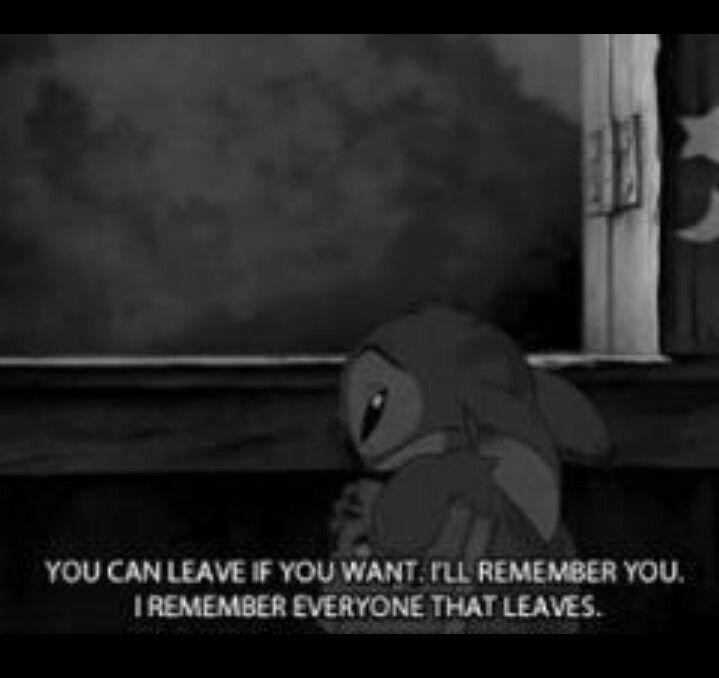 Sad Scene In Lilo Stitch I Remember Everyone That Leaves
