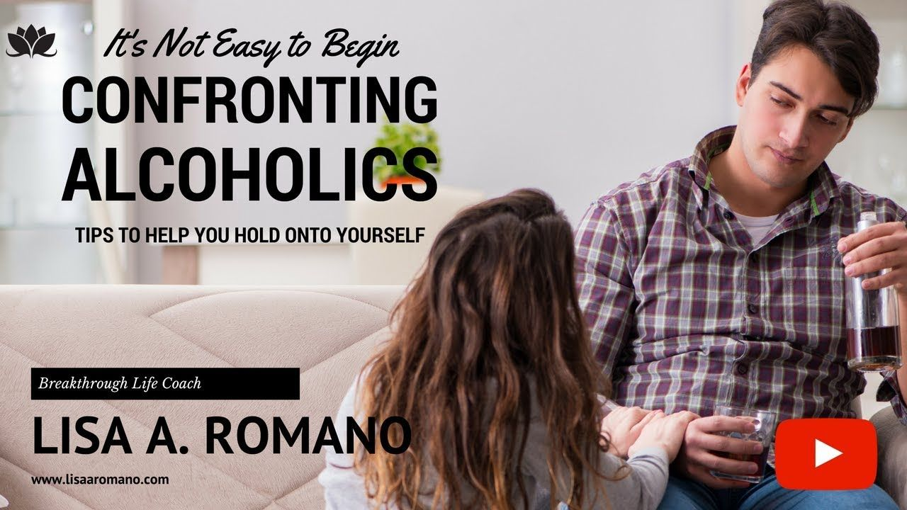 how to confront an alcoholic spouse
