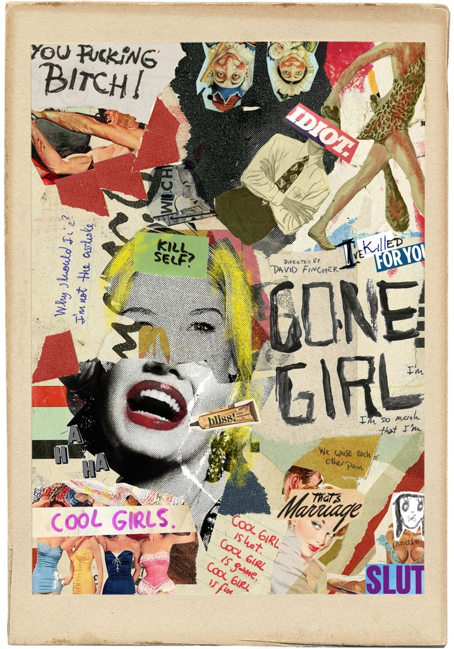Book Cover Collage Poster ~ Gone girl collage poster put in on a cover pinterest