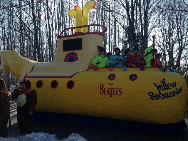faschingswagen yellow submarine und die beatles
