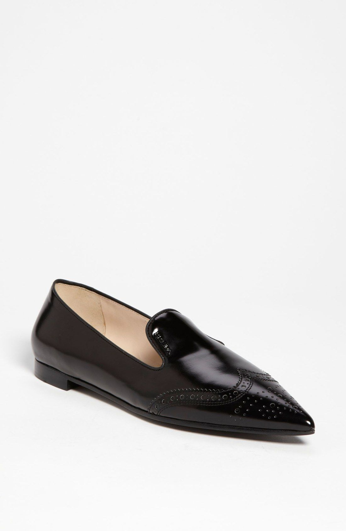 fast delivery cheap price excellent Prada Black Pointy Slip-On Loafers XXJisoMKd4