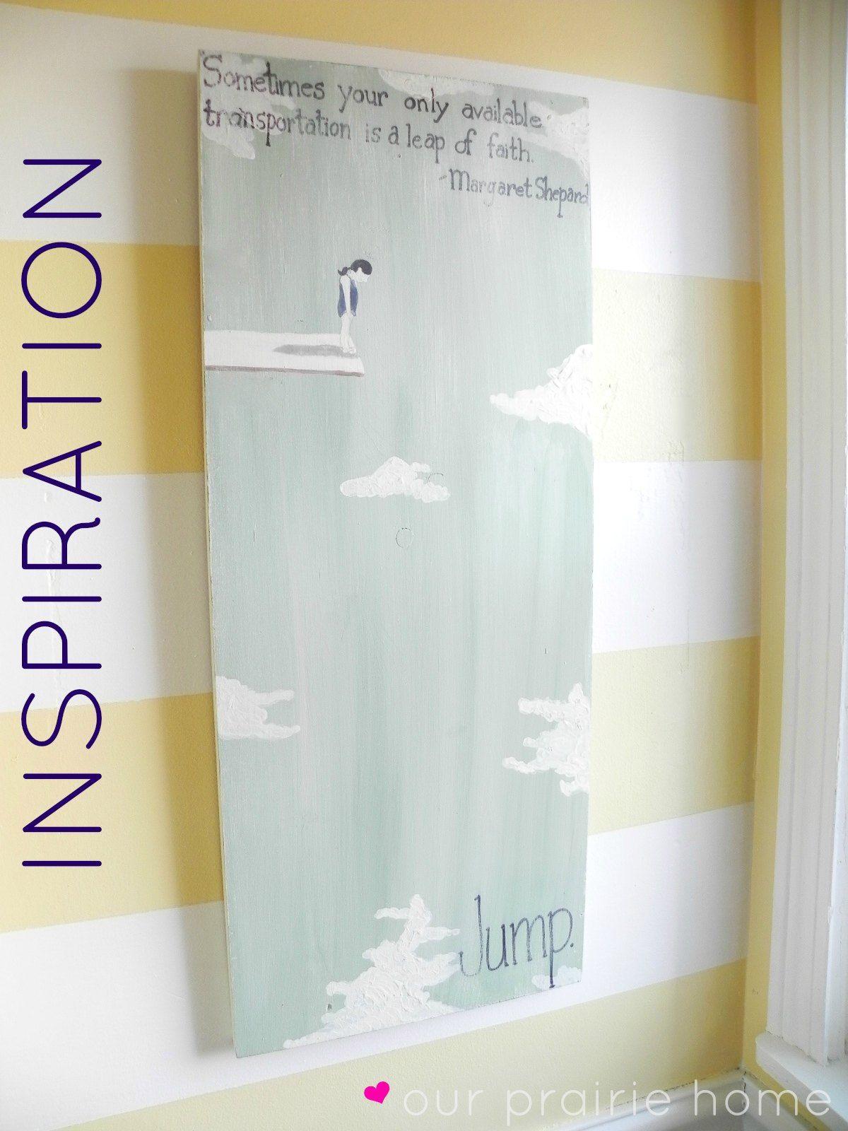 Our Prairie Home: Downstairs Bathroom {A Reveal} Inspirational Wall ...