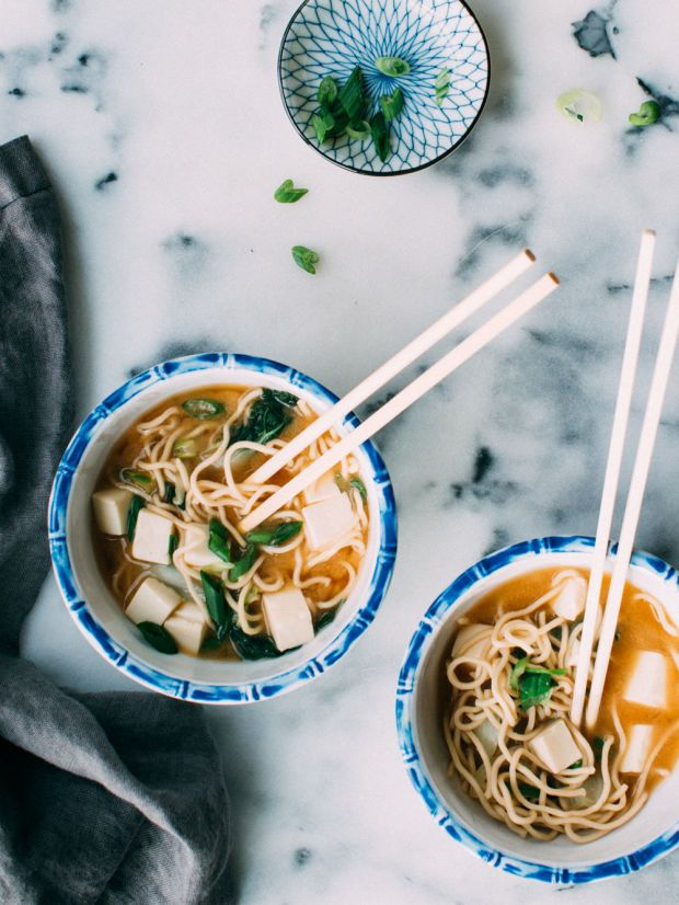 Almost Instant Miso Noodle Soup - Foodess