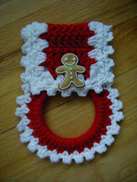 Hand crochet towel holder | Crazy about yarn | Pinterest | Toallero ...