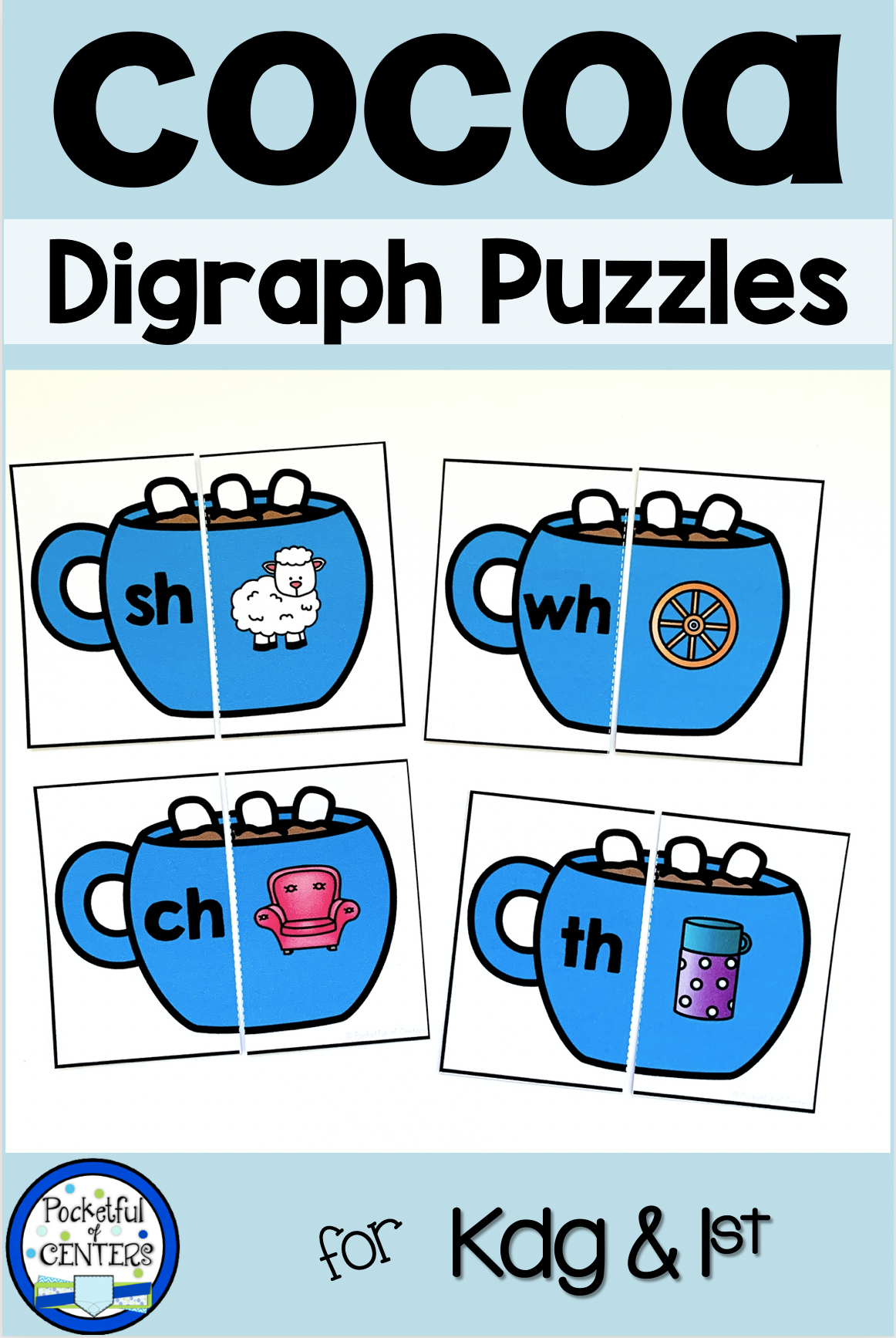 Hot Cocoa Hot Chocolate Digraphs Puzzles Ch Sh Th Wh