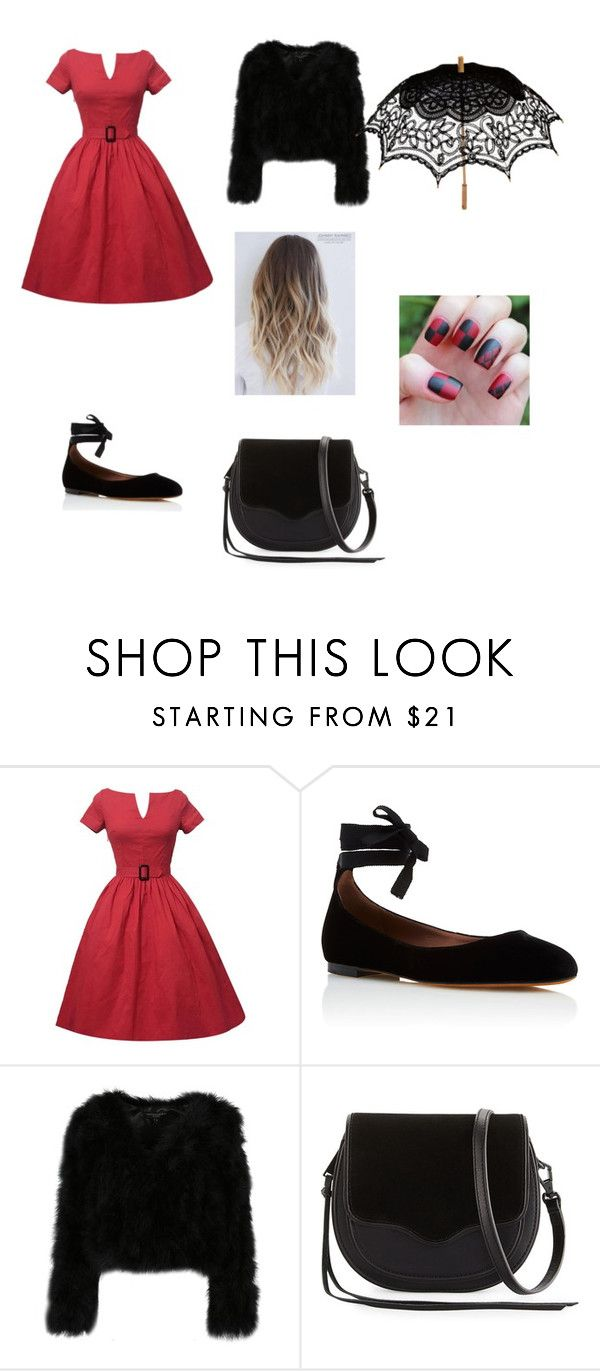 """Harley Quinn's Formal Wear"" by cminibriggs ❤ liked on Polyvore featuring Tabitha Simmons, Rebecca Minkoff and Remedios"