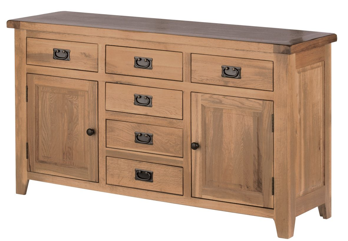 Modern Unfinished Pine Sideboard And Mirror